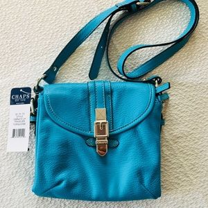 CHAPS Turquoise Crossbody Bag NWT